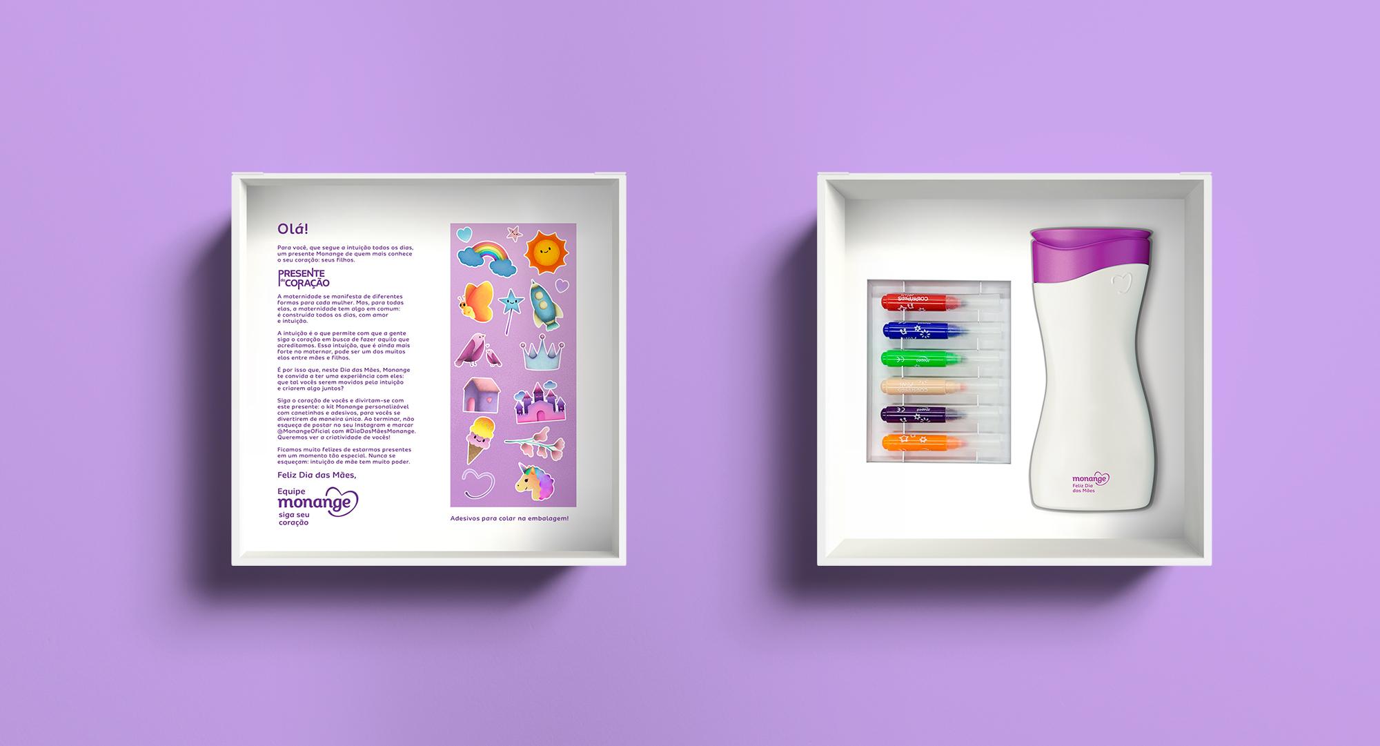 Monange cria ação Presente do Coração e presenteia influenciadoras com um hidratante personalizado pelos seus filhos