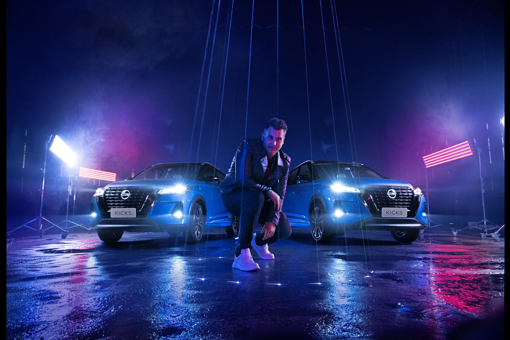 """Novo Nissan Kicks e Bruno Martini juntos na música """"Attitude"""""""